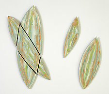 Miami Leaves by Kristi Sloniger (Ceramic Wall Sculpture)