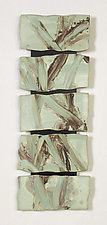 Sage Green Landscape by Kristi Sloniger (Ceramic Wall Sculpture)