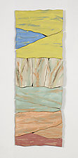 Vertical Landscape by Kristi Sloniger (Ceramic Wall Sculpture)