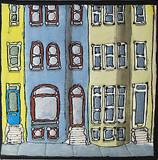Baltimore Row Detail by K. Velis Turan (Fiber Wall Hanging)