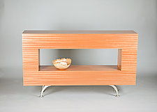 Hollow Table by Todd Leback (Wood Console Table)