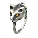 Playing Cat Ring by Natalie Frigo (Gold or Silver Ring)