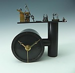 Working Overtime by Mary Ann Owen and Malcolm  Owen (Metal Clock)