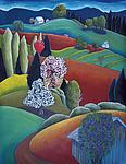 Lilac Farm by Jane Aukshunas (Giclee Print)