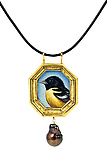 Oriole Pendant by Christina Goodman (Gold & Pearl Necklace)