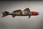 Sea Bass by Paul Sumner (Metal Wall Sculpture)