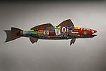 Sea Bass by Paul Sumner (Metal Wall Sculpture)