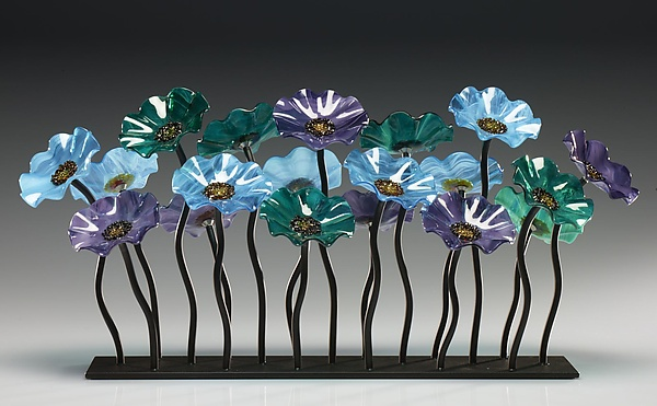Topaz Glass Flower Garden