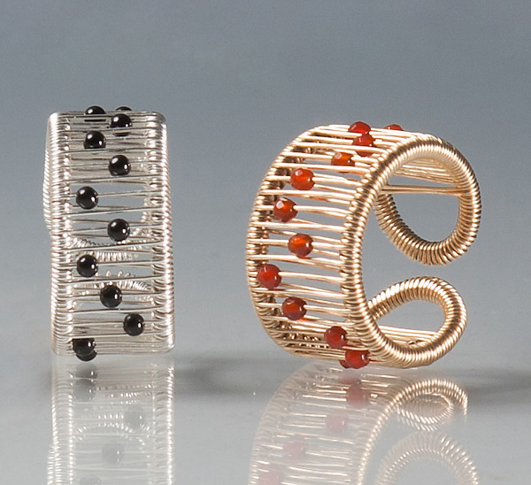 Kinetic Rings with Gemstones