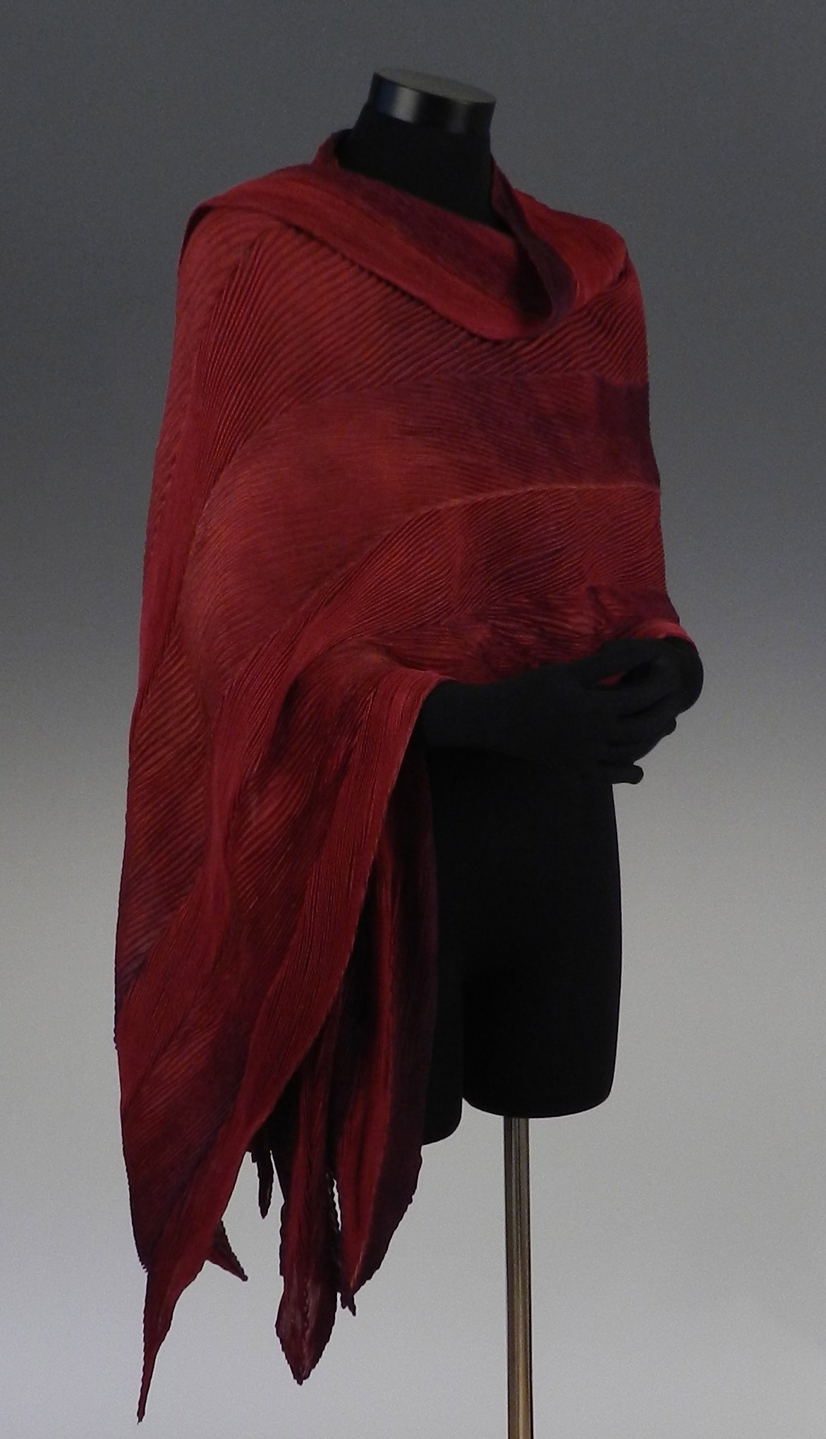 Arashi Shawl in Red and Multi-color