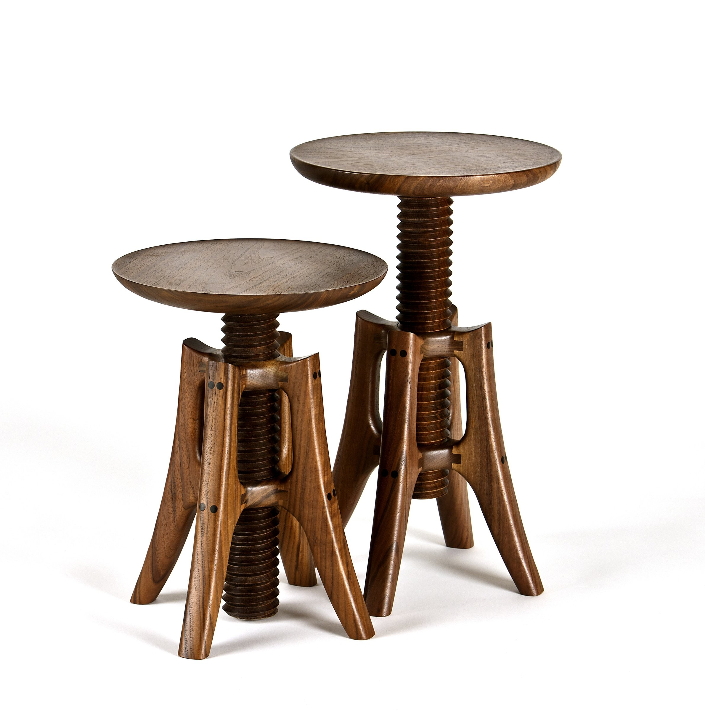 Piano Stool in Walnut by James Pearce Wood Stool