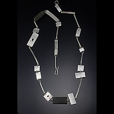 Boundaries Necklace by Caroline Viene (Silver & Wood Necklace)