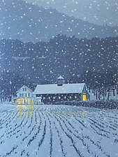 First Snow by William Hays (Linocut Print)