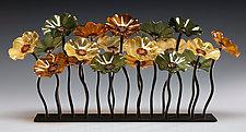 Silverthorn Garden Table Centerpiece by Scott Johnson and Shawn Johnson (Art Glass Sculpture)