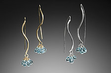 S Curve Earrings by Kennedi Milan (Gold, Silver & Stone Earrings)