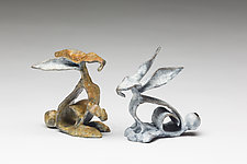 Cotton & Clementine by Sandy Graves (Bronze Sculpture)
