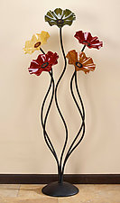56'' Flowers in Breckenridge Colors by Scott Johnson and Shawn Johnson (Art Glass Sculpture)