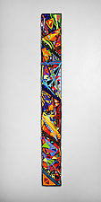 Mardi Gras Wall Panel by Helen Rudy (Art Glass Wall Sculpture)