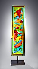 Large Abstract Panel by Helen Rudy (Art Glass Sculpture)