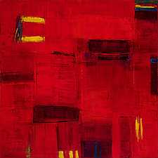 Abstract in Red #2 by Lela Kay (Oil Painting)