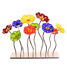 Rainbow Garden Table Centerpiece by Scott Johnson and Shawn Johnson (Art Glass Sculpture)