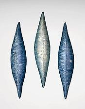 Blue Water by Liza  Halvorsen (Ceramic Wall Sculpture)