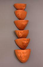 Face to Face by Liza  Halvorsen (Ceramic Wall Sculpture)