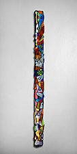 Swizzlestick by Helen Rudy  (Art Glass Wall Sculpture)