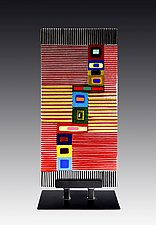Composition Panel by Helen Rudy  (Art Glass Sculpture)