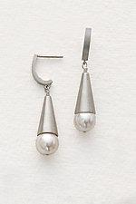 Pearl Cone Earrings by Claudia Endler (Silver & Pearl Earrings)