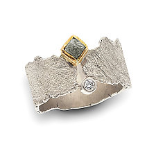 Grigio Ring by Davide Bigazzi (Gold, Silver & Stone Ring)