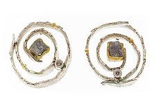 Nido Earrings by Davide Bigazzi (Gold, Silver & Stone Earrings)