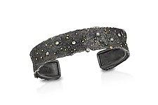 Cielo Cuff Bracelet by Davide Bigazzi (Gold, Silver & Stone Bracelet)
