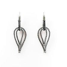 Feather Zipper Earrings by Kate Cusack (Zippered Earrings)