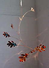 7 Leaf Copper Oak Mobile by Jay Jones (Metal Sculpture)