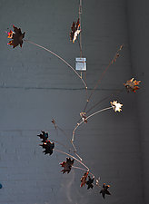 14 Leaf Copper Maple Mobile by Jay Jones (Metal Sculpture)