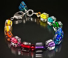 Jumble Rainbow Bracelet by Ricky Bernstein (Beaded Bracelet)