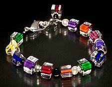 Jumble Pearl Brights Bracelet by Ricky Bernstein (Beaded Bracelet)