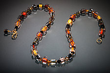 Jumble Brindle Necklace by Ricky Bernstein (Beaded Necklace)