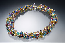 Goldstone Pearl Triple-Strand by Ricky Bernstein (Beaded Necklace)