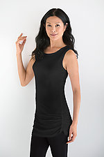 Matte Jersey Ruched Tank by Planet   (Knit Top)