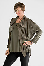 Perforated Drawstring Jacket by Planet   (Microfiber Jacket)