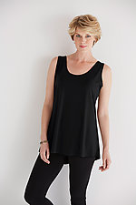 Matte Jersey Shirt Tail Tank by Planet   (Knit Tank)