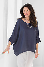 Linen Keyhole Top by Planet   (Linen Top)