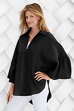 Bell Sleeve Linen Top by Planet   (Linen Top)