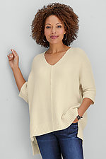 Honeycomb V Sweater by Planet   (Knit Sweater)