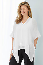 Ipanema Poncho by Carol Turner  (Linen Tunic)