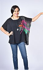 Mardi Gras Sheer Small Square by Carol Turner  (Woven Top)