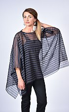Navy Black Sheer Stripe Square by Carol Turner  (Woven Top)