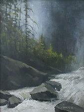 Yosemite Creek by Mary Jo Van Dell (Oil Painting)